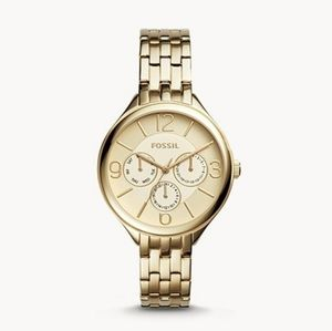 🌼 NWT Fossil gold tone stainless steel watch